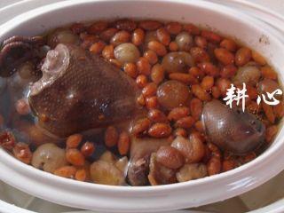 桂圆枸杞鸽子汤,时间到,断电,盛出享用。