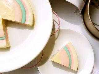 彩虹慕斯蛋糕,成品2