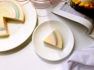 彩虹慕斯蛋糕,味道好极了。