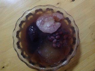银耳红豆水果粥