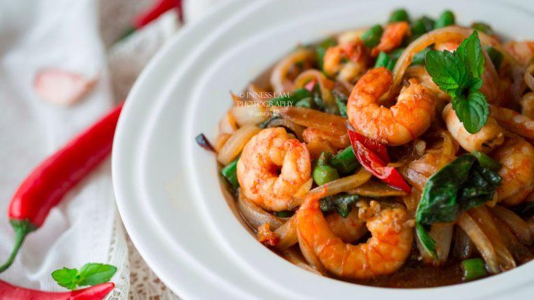 【泰式九层塔炒虾】 去泰国必吃的低卡美味