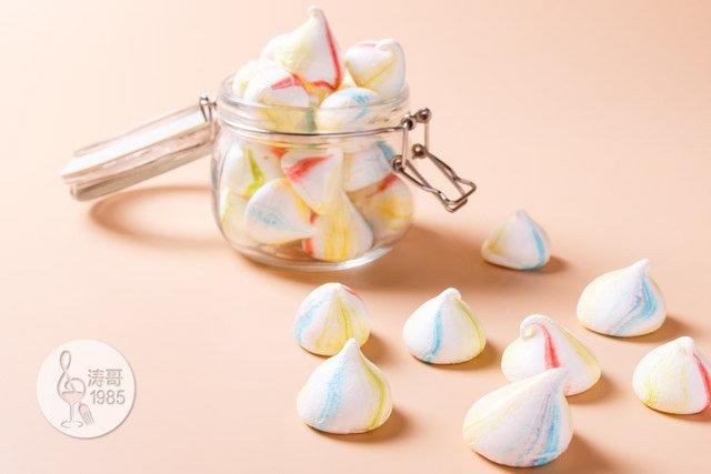 彩虹蛋白饼干,外形可爱,口感入口即化