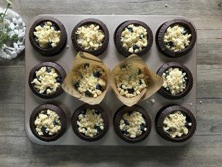 金宝顶蓝莓麦芬,再铺上金宝顶香酥粒。