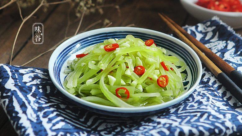 夏天小菜~凉拌莴笋