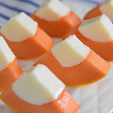 0厨艺也能轻松搞定的甜点——木瓜牛奶冻