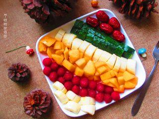 五色水果拼盘,一盘水果补充维c,亲们,快快行动吧,想吃了有木有?