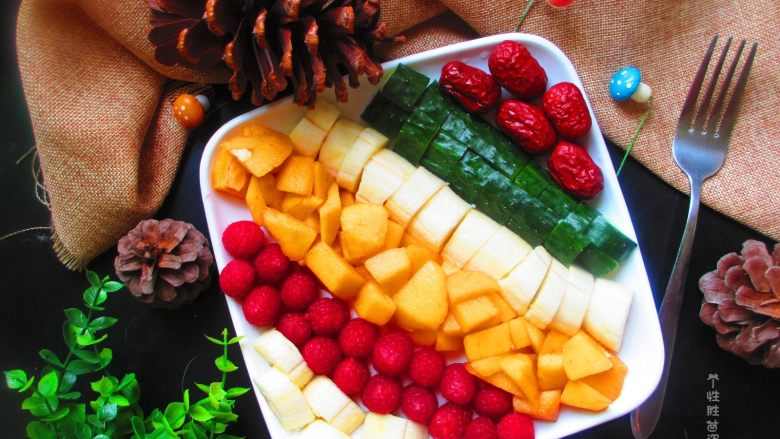 五色水果拼盘