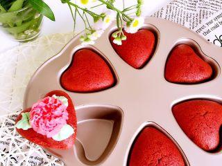 爱心小蛋糕,成品图