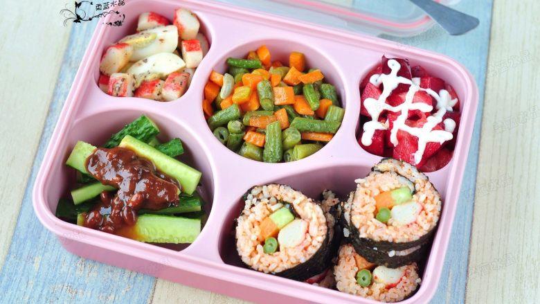 韩式紫菜包饭便当