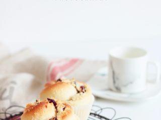 蔓越莓椰蓉花朵面包,成品