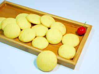 蛋黄小饼干,成品。