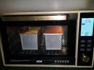 日式甜面包-中种法,送入预热好的烤箱下层:180度、上下火,烤40~45分钟左右