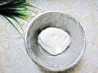 凤梨糯米糍,揉到三光,面团很光滑的表面即可