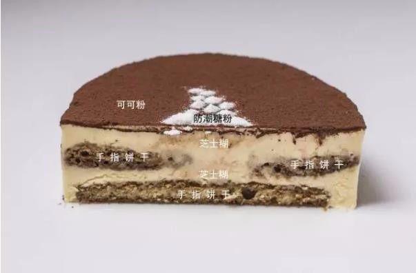 米其林私藏提拉米苏, 第四步,冷冻四个小时后脱模,顶部撒上可可粉,进行装饰即可。
