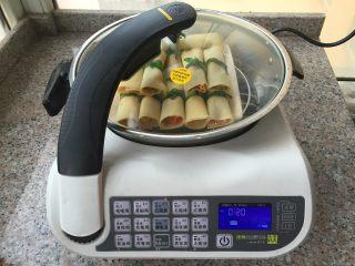 豆腐卷,蒸15-20分钟即可。