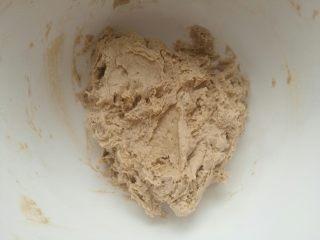 海盐巧克力软曲奇,用刮刀拌至无干粉