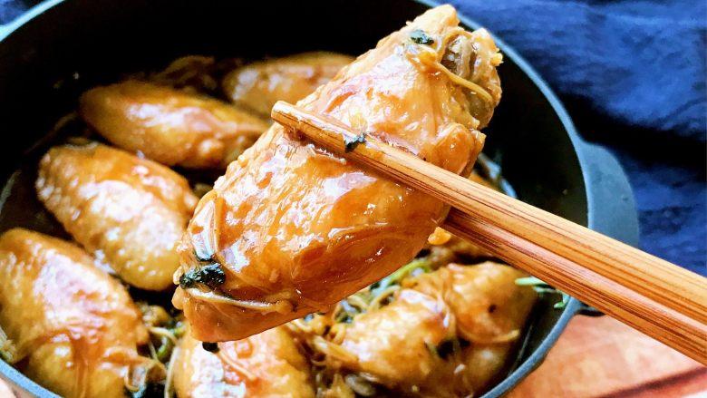 金针菇鸡翅煲,尝一块,鲜美无比。