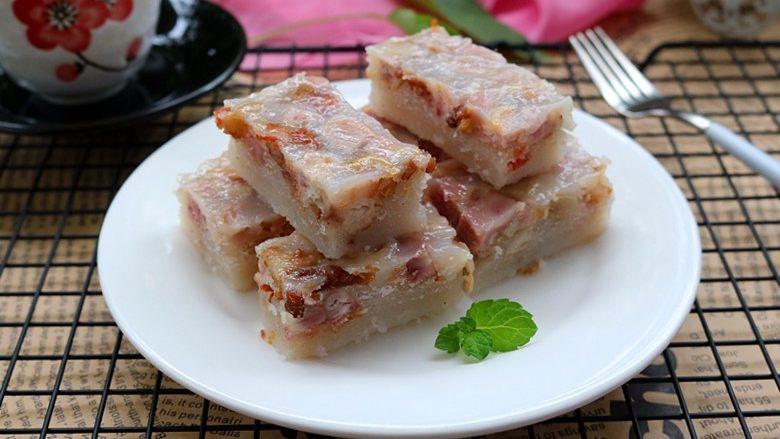 广式芋头糕,切块即可食用