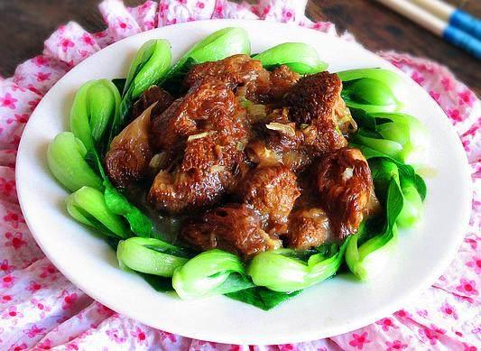 猴头菇扒油菜心