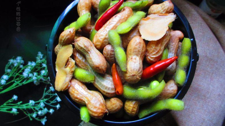五香花生煮毛豆
