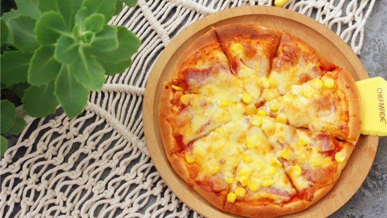 培根玉米粒披萨