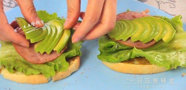 牛油果鸡蛋火腿三明治,码上牛油果。