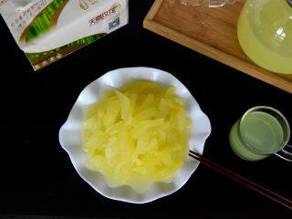 酸甜爽口的柠檬瓜条,成品图。