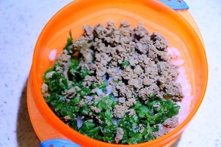 鸡肝青菜粥