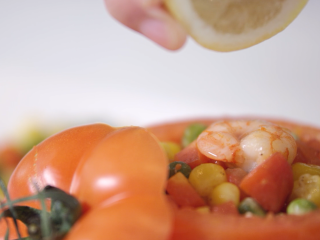 番茄柠檬烩虾仁