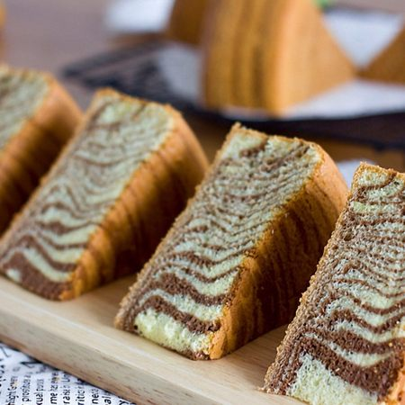 斑马条纹戚风蛋糕(超详细8寸版)