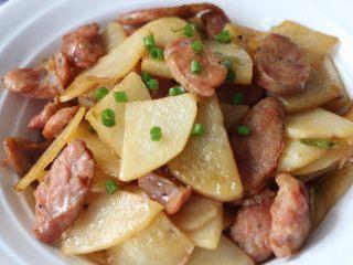 香肠土豆片,快点动手尝尝吧!
