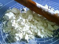 自制熟面粉,用擀面杖敲碎