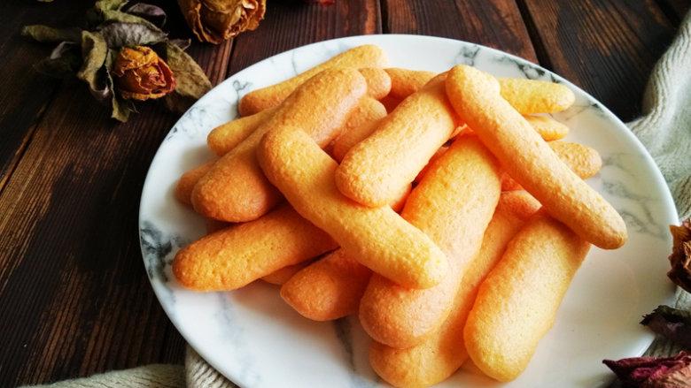 零添加版蛋黄手指饼干