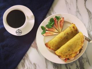 高蛋白减脂——虾仁豌豆饼