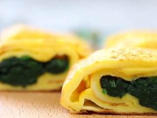 菠菜厚蛋烧 宝宝辅食,健康,快手,颜值高