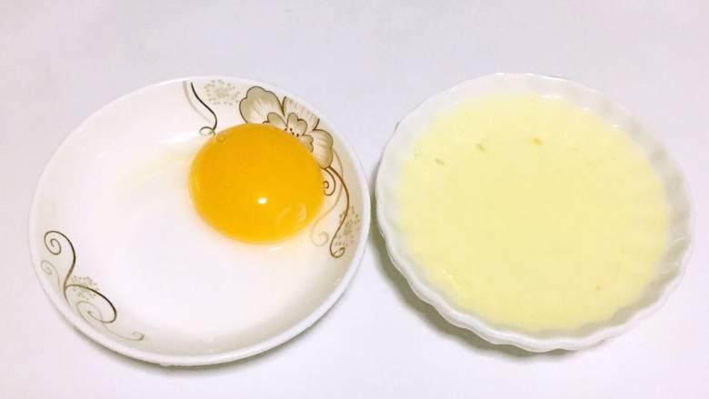 宝宝午餐肉,蛋清蛋黄分离。