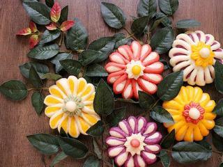 吃掉一朵花+花朵馒头