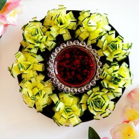 黄瓜花朵拼盘
