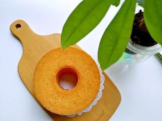 桔子汁戚风蛋糕,成品图