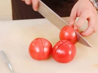 茄汁意面,番茄十字花刀