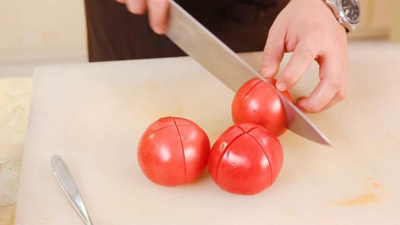 茄汁意面,<a style='color:red;display:inline-block;' href='/shicai/ 59'>番茄</a>十字花刀