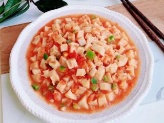 番茄藕丁,脆脆的,很开胃的一道菜。