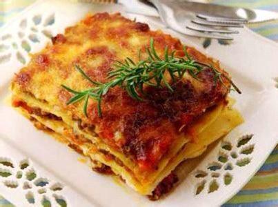 意大利肉酱千层面,如图