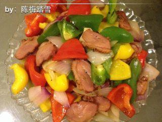 黑椒鸭胸肉炒五彩椒