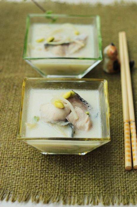 豆浆黑鱼片汤