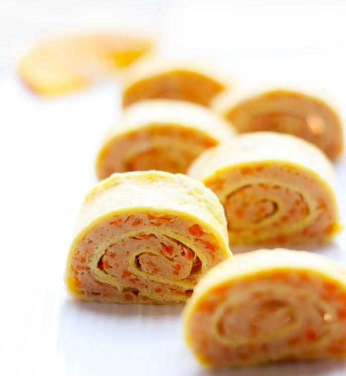 鲜虾鸡肉蛋卷