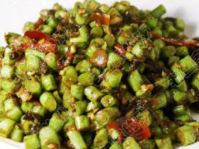 豆瓣橄榄菜炒豆角