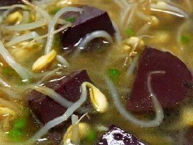 大豆芽菜猪血汤