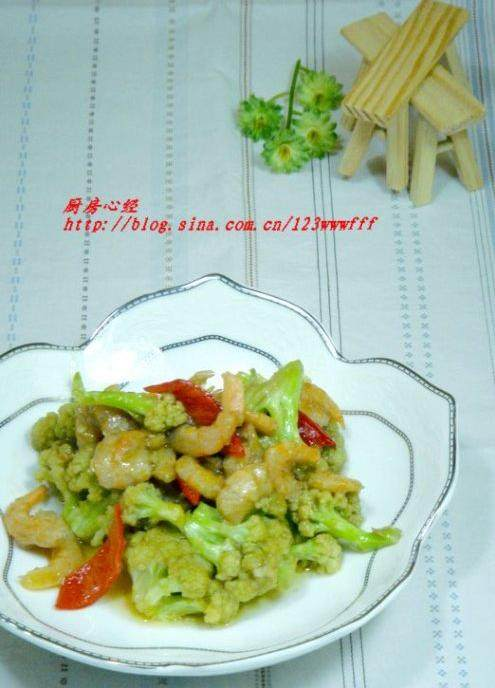 海米烧菜花