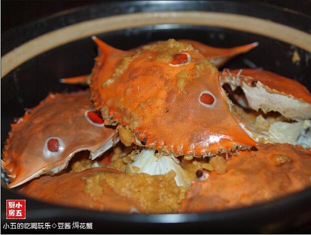 豆酱焗花蟹